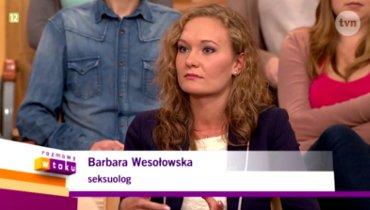 Psycholog Barbara Wesołowska-Budka w TVN