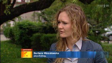 Psycholog Barbara Wesołowska-Budka w Panoramie TVP